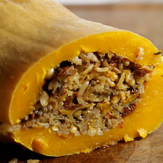 Roasted Stuffed Butternut Squash.