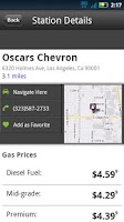 Screenshot of MapQuest Gas Prices