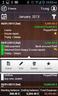 T2Expense - Money Manager - screenshot thumbnail