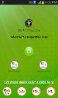 Screenshot of GPAT Practice