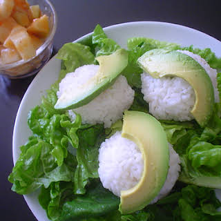 Tuna, Cream Cheese, and Avocado Rice Balls.