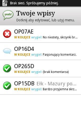 Opencaching QuickFind- screenshot