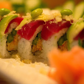 sushi-edamame roll by Christopher Wu - Food & Drink Plated Food ( Food & Beverage, meal, Eat & Drink )