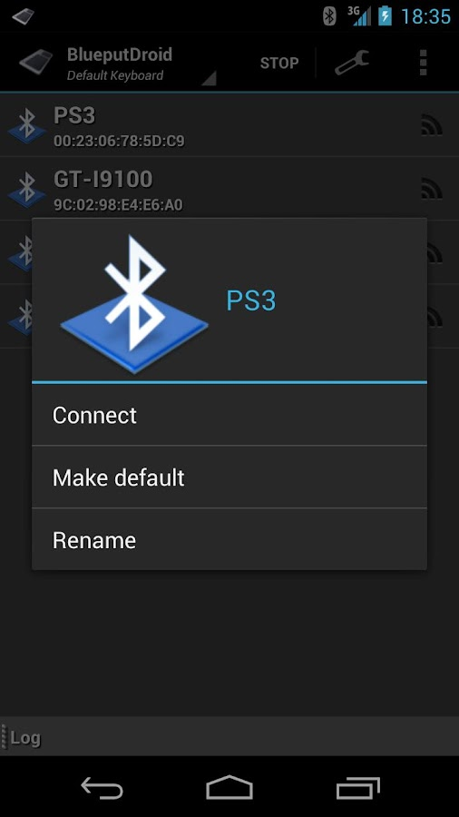 BlueputDroid - screenshot