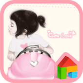 Cute love girl dodol theme