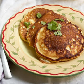 Savory Buttermilk Pancakes with Corn.