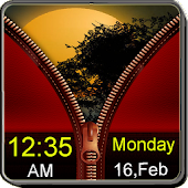 Red Zipper Screen Lock