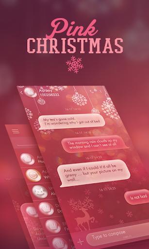 GO SMS PINK CHRISTMAS THEME