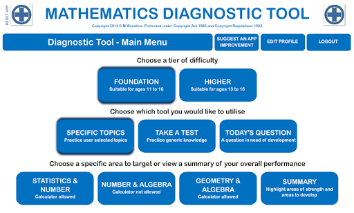 Maths Student Diagnostic Tool