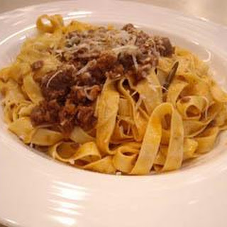 Pasta with a Bolognese Sauce Recipe