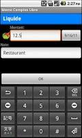 Screenshot of Memo-Comptes Libre