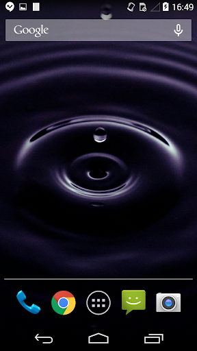 Droplets Live Wallpaper