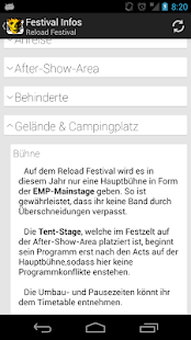 Reload Festival App- screenshot thumbnail