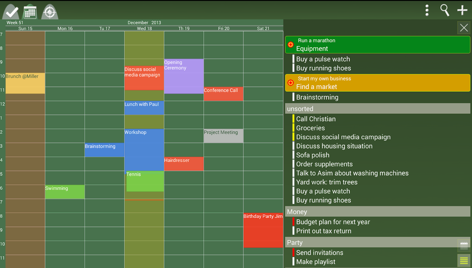 To-Do Calendar Planner - screenshot