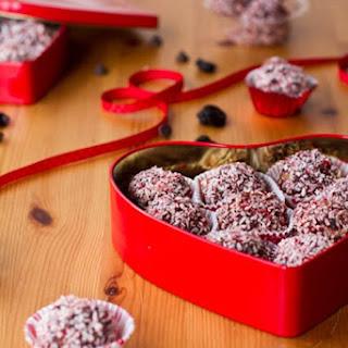 Dark Chocolate Cherry Walnut Truffles
