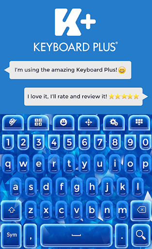 键盘加辉光蓝