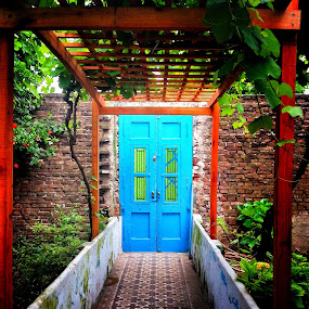 The Blue Door by Gianna Baker - Buildings & Architecture Homes ( argentina, old, blue, door,  )