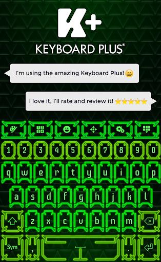 键盘霓虹绿