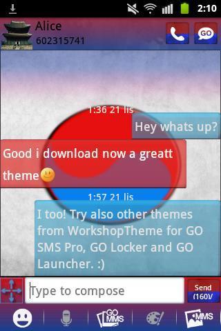 GO SMS PRO Theme Korea Buy