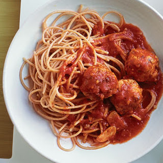 Turkey Meatballs and Spaghetti.