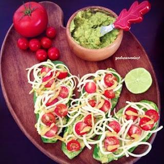 Nopal (Cactus) Raw Vegan Tostadas Recipe