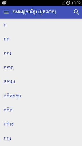 Khmer Dictionary Chuon Nath