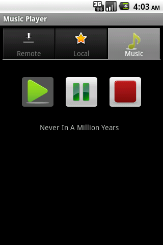 Android Music Player - screenshot