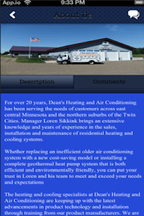 Dean's Heating & A/C, Inc - screenshot thumbnail