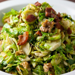Shredded Brussels Sprouts with Bacon and Walnuts.