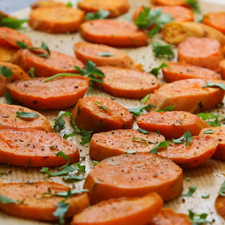 Roasted or Grilled Sweet Potatoes with Cilantro and Lime