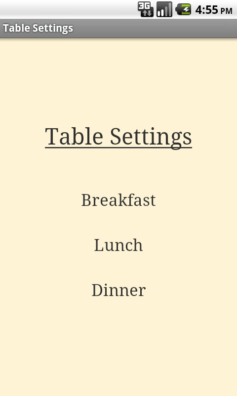 Table setting cheat sheet android apps on google play for Fish table cheat app