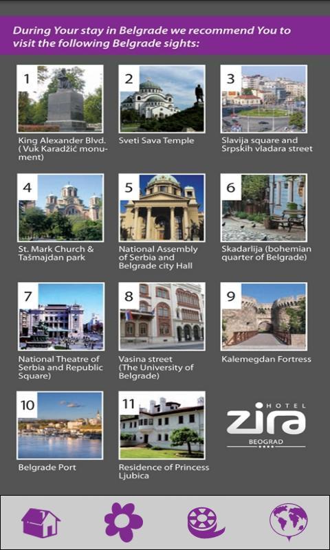 Zira Hotel Belgrade- screenshot