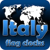 Italy flag clocks