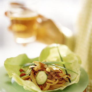 Lettuce Bundles with Spicy Peanut Noodles