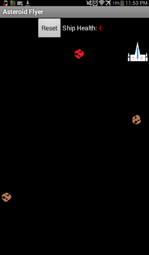 Asteroid Flyer Shooter Game