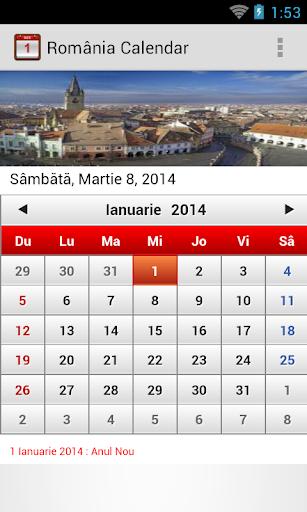 România Calendar 2014