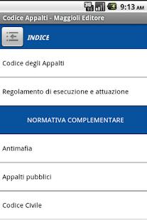 Codice degli Appalti- screenshot thumbnail