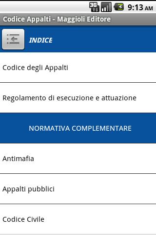 Codice degli Appalti- screenshot