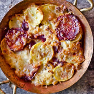 Potato and Beet Gratin.