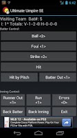 Screenshot of Ultimate Umpire Game Scorecard