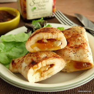 Chicken Roulades Stuffed with Mango Chutney and Brie.