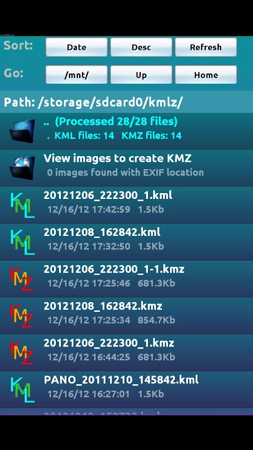 KMLZ to Earth- screenshot