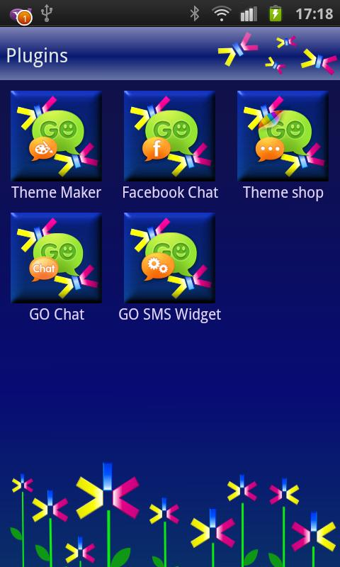 GOSMS Abstract Flowers Theme- screenshot