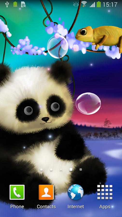 Panda live wallpaper android apps on google play for Wallpapers 3d animados para android