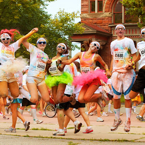 Color Run Happiness by Mike Boening - People Group/Corporate ( arbor, ann, aaron, color run, running,  )