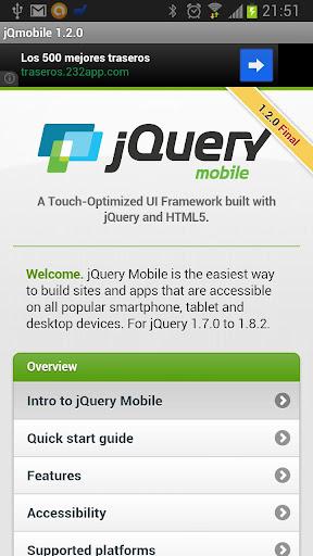 jQuery mobile 1.2.0 Demos docs