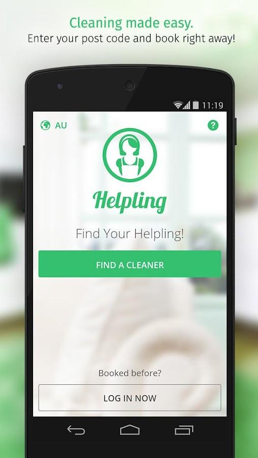 Helpling - screenshot