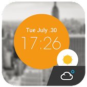 Colorful Clock Weather Widget