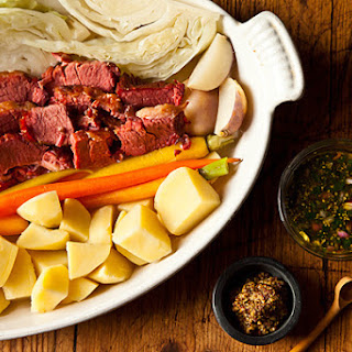 Suzanne Goin's Corned Beef & Cabbage with Parsley-Mustard Sauce