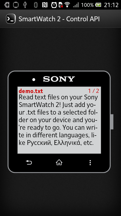 Reader for SmartWatch 2- screenshot